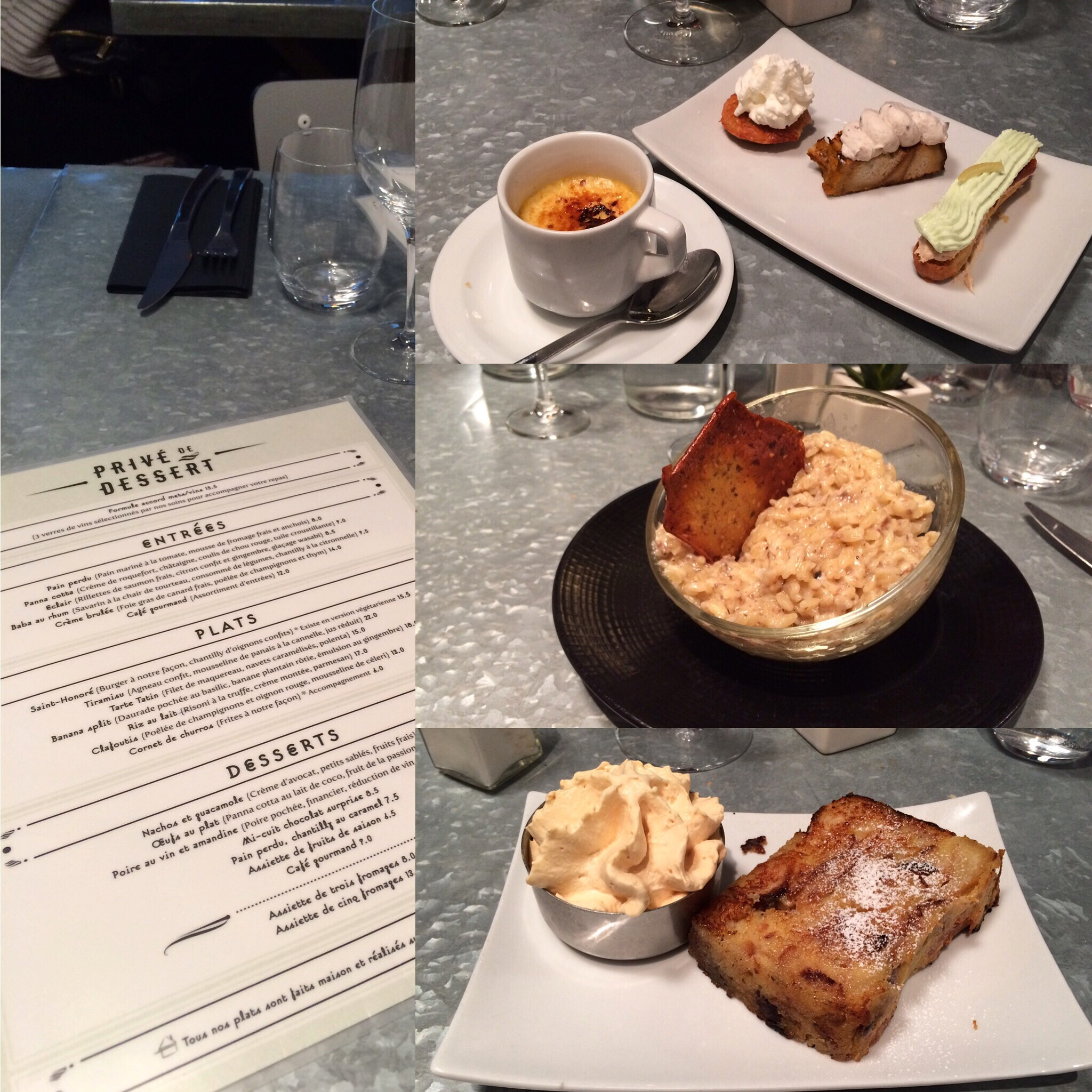 restaurant privé de dessert paris
