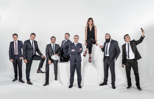 equipe de Canal+ pour la Coupe du Monde de rugby 2015