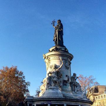 Place de la République. Liberté.