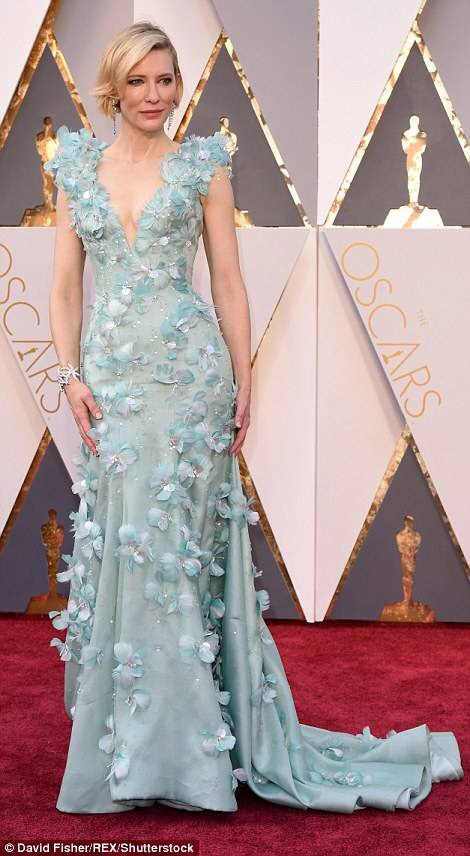 Cate Blanchett dress robe auux Oscars 2016