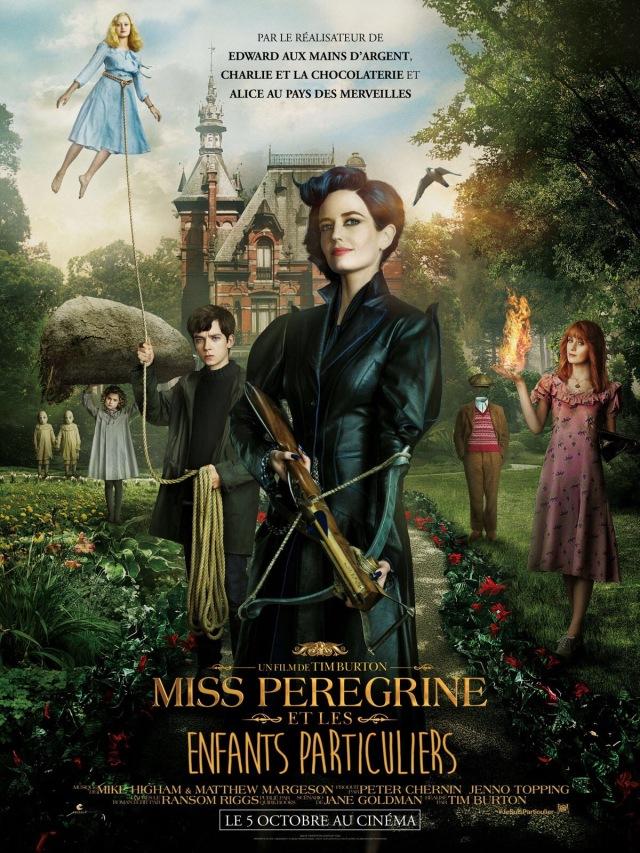 Affiche du film Miss Peregrine et Les Enfants Particuliers de Tim Burton octobre 2016