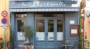 Devanture du restaurant la Bartavelle à Argelès sur mer, recommandé par les Toques Blanches.