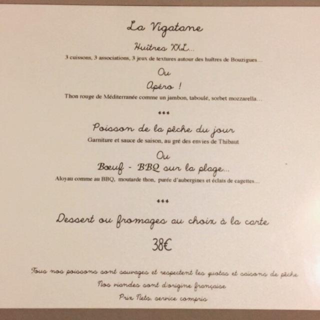 Menu d'été 2017 à 38€ du restaurant La Bartavelle à Argelès