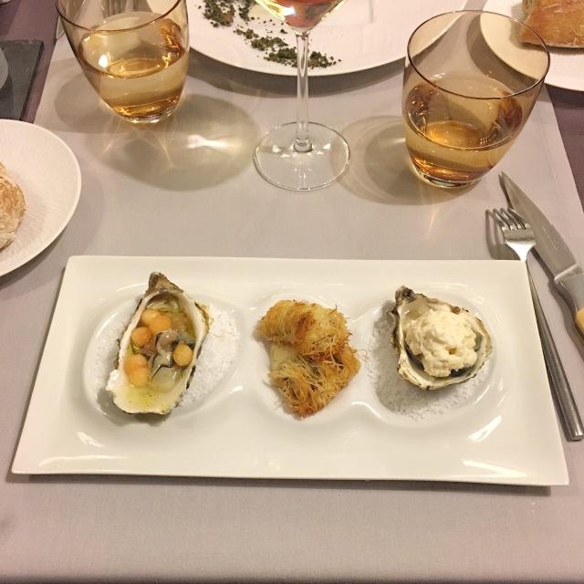 Les huitres en 3 façons du restaurant La Bartavelle