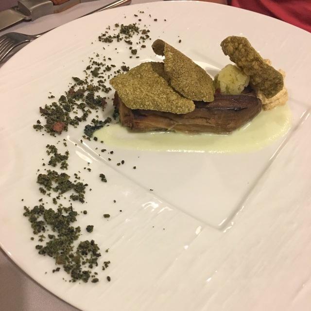 Aubergine à la plancha du restaurant la Bartavelle